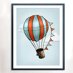 Instant Download, printable Hot Air Balloon art