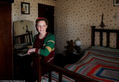 Joanna (pictured here in her bedroom) says that there is just one thing missing from her idealistic life, a man, and says she promises to act as the perfect house wife to whomever agrees to marry her