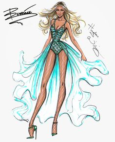 #Hayden Williams Fashion Illustrations #Beyoncé Mrs. Carter Show World Tour collection by Hayden Williams: Finale