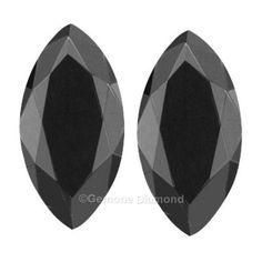a72afef67 1.00 Carat Jet Black Color Marquise Cut Diamonds Pair For Fancy Stud  Earrings 2.00 Carat Black Marquise Cut Diamond Pair Loose For Fancy Stud  Earrings4.02 ...