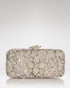 Clara Kasavina Clutch - Lilia Handbags - All Handbags & Wallets - Bloomingdale's Bridal Accessories, Fashion Accessories, Mk Handbags, Designer Handbags, Fashion Bags, Floral Fashion, Evening Bags, Clutch Bag, Purses And Bags