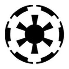 Star Wars Imperial Logo Stencil