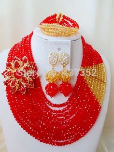 Find More Jewelry Sets Information about New Design! Red champagne gold Crystal Beads Nigerian wedding african beads jewelry set bridal jewelry sets AAC192,High Quality jewelry rose,China jewelry acessories Suppliers, Cheap jewelry one shoulder dress from Alisa's Jewelry DIY Store on Aliexpress.com