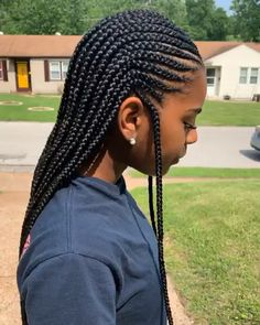 kids knotless box braids with beads ; kids knotless box braids with color ; Braids Hairstyles Pictures, Feed In Braids Hairstyles, Black Girl Braided Hairstyles, My Hairstyle, African Hairstyles, Hair Pictures, Weave Hairstyles, Hairstyles Videos, Braided Hairstyles For Black Women Cornrows