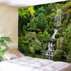 Where To Buy Mountain Wall Tapestry Online? Hanging Art, Tapestry Wall Hanging, Wall Hangings, Blanket On Wall, Wall Blankets, Tapestry Online, Cheap Wall Tapestries, Cheap Wall Art, Landscape Materials