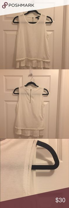 Jcrew layered white tank Cute white tank with a layered effect J. Crew Tops Tank Tops