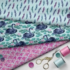Lakeside Feathers in Morning Hue Hue, Feathers, Sunglasses Case, Fabric, Prints, Tejido, Tela, Cloths, Fabrics