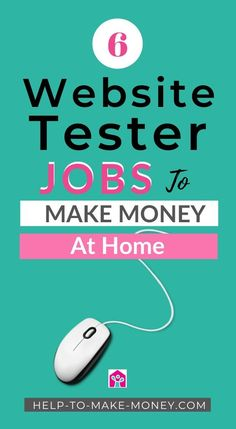 Would you like to make money testing websites? Let me tell you how to become a website tester to make extra money every month. Home Based Work, Work From Home Jobs, Make Money From Home, Way To Make Money, Make Money Online, How To Make, Online Jobs For Moms, Best Online Jobs, Student Jobs