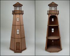 Miniature Lighthouse   Greenleaf Dollhouse Kits Blog-I want to hauntify this.