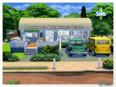 Barnyard Breakfast Diner by Oldbox at All 4 Sims • Sims 4 Updates