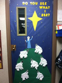 Christmas Classroom Door Decoration By K Ollar Decorating Contest Decorations