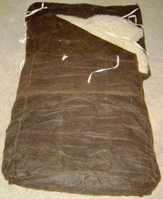 Oilskin-Sheepskin camp bedroll!