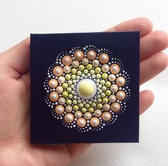 Original Small Pastel Mandala Painting on by CreateAndCherish