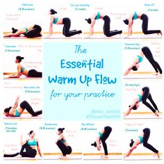 Essential yoga flow for beginners. Perfect warm up flow for intermediate  practitioners.  miss sunitha fa694179c063