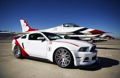 2014 Ford Mustang GT US Air Force Thunderbirds Edition // beyond awesome!