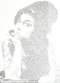 Amy Winehouse in handwritten lyrics