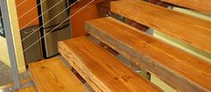 Reclaimed Antique Heart Pine Custom Stair Treads