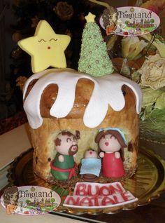 Panettone presepe... Cake design Natale