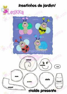 Moldes de caracoles de fieltro y foami (1)
