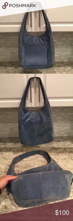 Michael Kors Blue Suede Hobo Bag!! Beautiful Suede Michael Kors Hobo Bag! Super chic! Excellent condition! KORS Michael Kors Bags Shoulder Bags