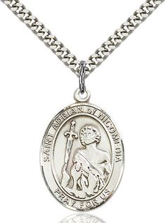 St. Adrian of Nicomedia Pendant (Sterling Silver) by Bliss | Catholic Shopping .com