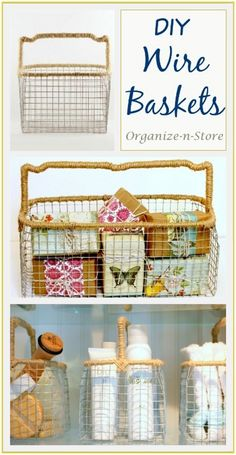 DIY Wire Baskets with Handles
