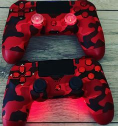 Custom NEW dualshock 4 040 controller full shell buttons top plate housing Rose Gold Titanium Blue Electric Purple Red Camouflage Cool Ps4 Controllers, Ps4 Controller Custom, Xbox One Controller, Gamer Setup, Gaming Room Setup, Control Playstation, Titanium Blue, Mundo Dos Games, Game Wallpaper Iphone