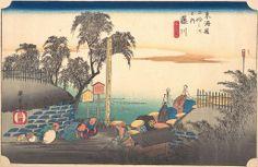 No.38 Fujikawa - Scene at Post Outskirts - The Fifty-Three Stations of the Tokaido Road; Hoeido Edition (1831-4)