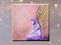 Original Angel Painting on canvas Angel Paintings, Original Paintings, Canvas Size, Abstract Art, Religion, Faith, Hand Painted, Display, Wall Art