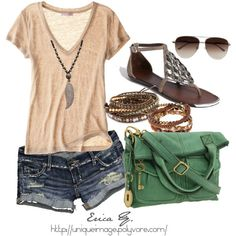this outfit manages to be cute, casual, & stylish. My summer fashion inspiration (: Fashion Moda, Look Fashion, Fashion Women, Teen Fashion, Fall Fashion, Latest Fashion, Fashion Online, Fashion Beauty, Fashion Design