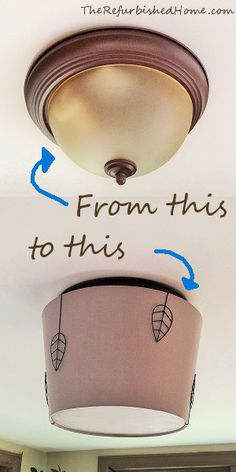 "Say goodbye to those silly ""boob"" lights with this DIY for an easy and stylish makeover from TheRefurbishedHome.com"