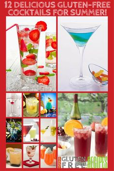 12 Delicious Gluten-Free Cocktails for Summer from EasyGlutenFree.Recipes