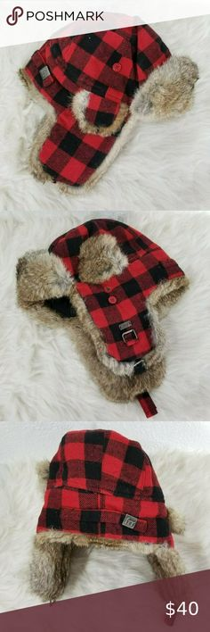NWT Baby GAP Pro Fleece 3D Dog Face Trapper Hat Soft Sherpa Lining NEW Boys 4 5