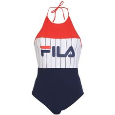 Fila Heritage Bodysuit ($51) ❤ liked on Polyvore featuring intimates, shapewear, tops, bodysuits, bodys and dungarees, swimsuits and red