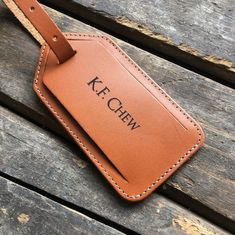 The perfect gift for any free bird roaming the world or curious George about to embark on a journey. Luggage tag is made of genuine leather, comes