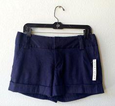 Alice   Olivia navy linen shorts 4 #alice-olivia #linen #navy #shorts #size-4