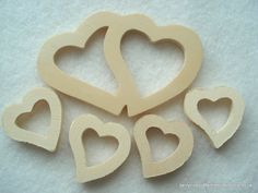 Plain Wood Heart Cutout Shapes Pack of 5 Wood by berrynicecrafts, £1.10