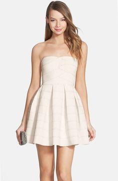 dee elle Textured Strapless Dress (Juniors) available at #Nordstrom @nordstrom