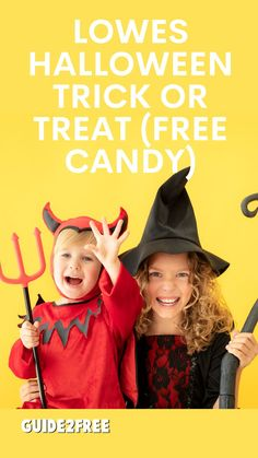 COME CELEBRATE HALLOWEEN WITH LOWE'S TRICK-OR-TREATING EVENT! Register to join us at your local Lowe's store from 5 – 7 PM on October 21st for Hal-LOWE-en Trick-or-Treat Tryouts. Families are invited to register and come dressed in costume to get FREE candy and pose in front of a scary-cute spiderweb backdrop. Space is limited and registration is required.