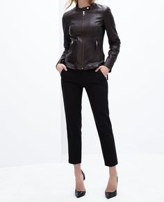 New Year Collections New Women's Lambskin Slim Fit Biker Leather Jacket-055 | eBay