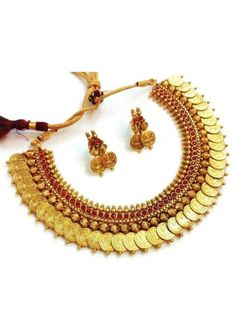 Alluring New Tradition Temple Coin Indian Jewellery Set At Best Price By Uttamvastra - Try Something New Today