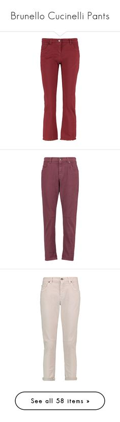 """""""Brunello Cucinelli Pants"""" by stacy-hardy ❤ liked on Polyvore featuring jeans, brick, medium rise jeans, slim fit jeans, slim jeans, 5 pocket jeans, slim cut jeans, merlot, petite jeans and brunello cucinelli jeans"""