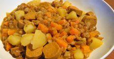 Linsen-Gemüse-Eintopf  (für drei Portionen)