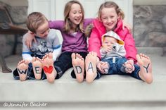 Different ways to photo kids for Father's Day!!  Way cute!!