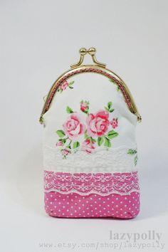 iphone clasp purse / iphone case / clutch / handmade gift