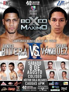 Regresa Boxeo al Maximo el sábado 8 de Agosto en el Coliseo Bezares de Caguas. Boletos en www.tcpr.com