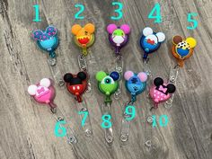 SALE * Personalized * Mouse Ears *ID Badge Reel * Retractable * Pediatric Badge Reel * Stitch * Minnie * Pooh * Buzz * Woody * Work Badge, Shipping Envelopes, Id Badge Holders, Pen Holders, Nurse Badge, Id Badge Reels, Badge Design, Mickey Ears, Mouse Ears