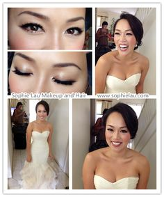 Asian bridal makeup. Beautiful natural glow with a mot-too-heavy eye and perfect shade of lips.