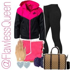 I feel blessed by ariel-brown-i on Polyvore featuring polyvore fashion style NIKE Lauren Ralph Lauren UGG Australia Gucci Wet Seal Tiffany & Co. Therapy