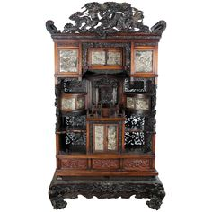 19th Century Japanese Shodana | From a unique collection of antique and modern furniture at https://www.1stdibs.com/furniture/asian-art-furniture/furniture/